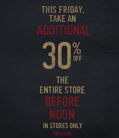 hollister black friday 30% off your entire purchase