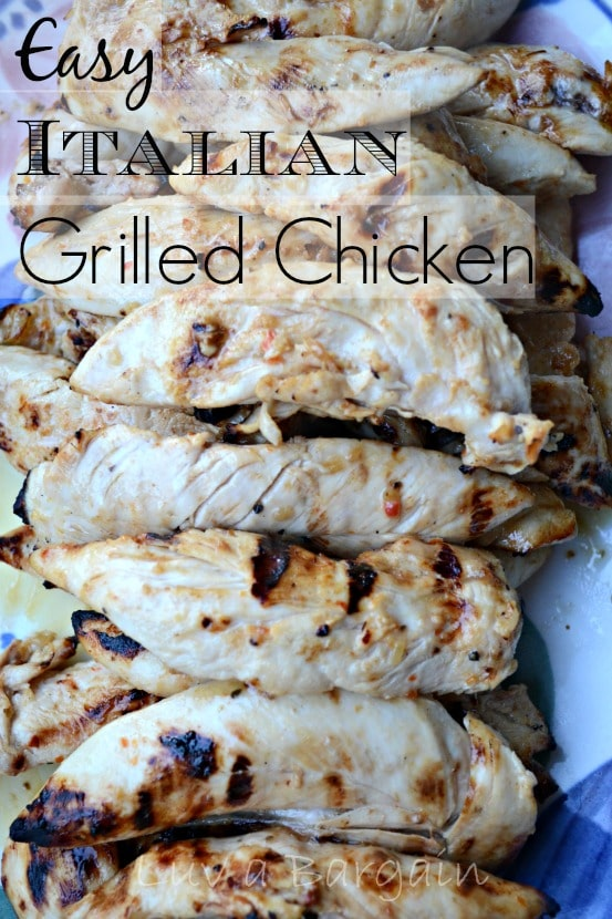 Easy Itailian Grilled Chicken
