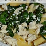 Thumbnail image for Chicken and Spinach in Feta Cream Sauce