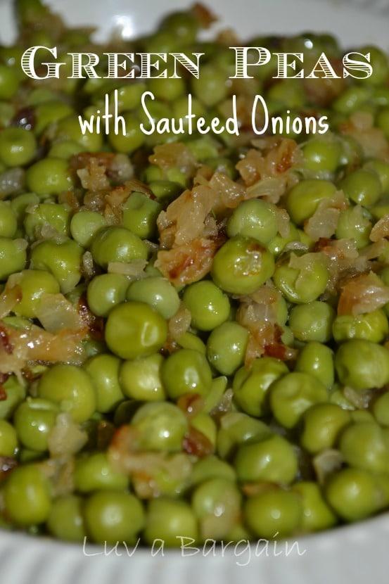 Green Peas with Sauteed Onions