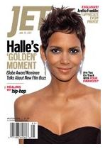 Halle Berry posing on the cover of jet magazine