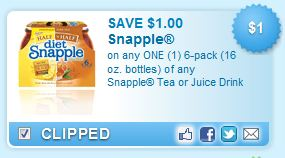 Free Printable Snapple Coupons