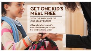 Olive Garden Kids Eat Free Coupon To Simply Inspire