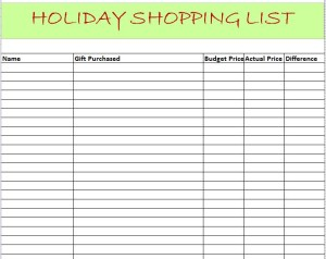 Budgeting for Holiday Shopping plus Free Printable Shopping List
