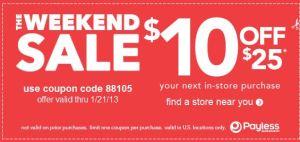 payless printable coupon