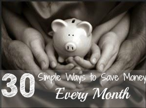 30 Simple ways to save