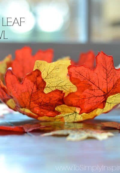 DIY Fall Leaf Bowl1