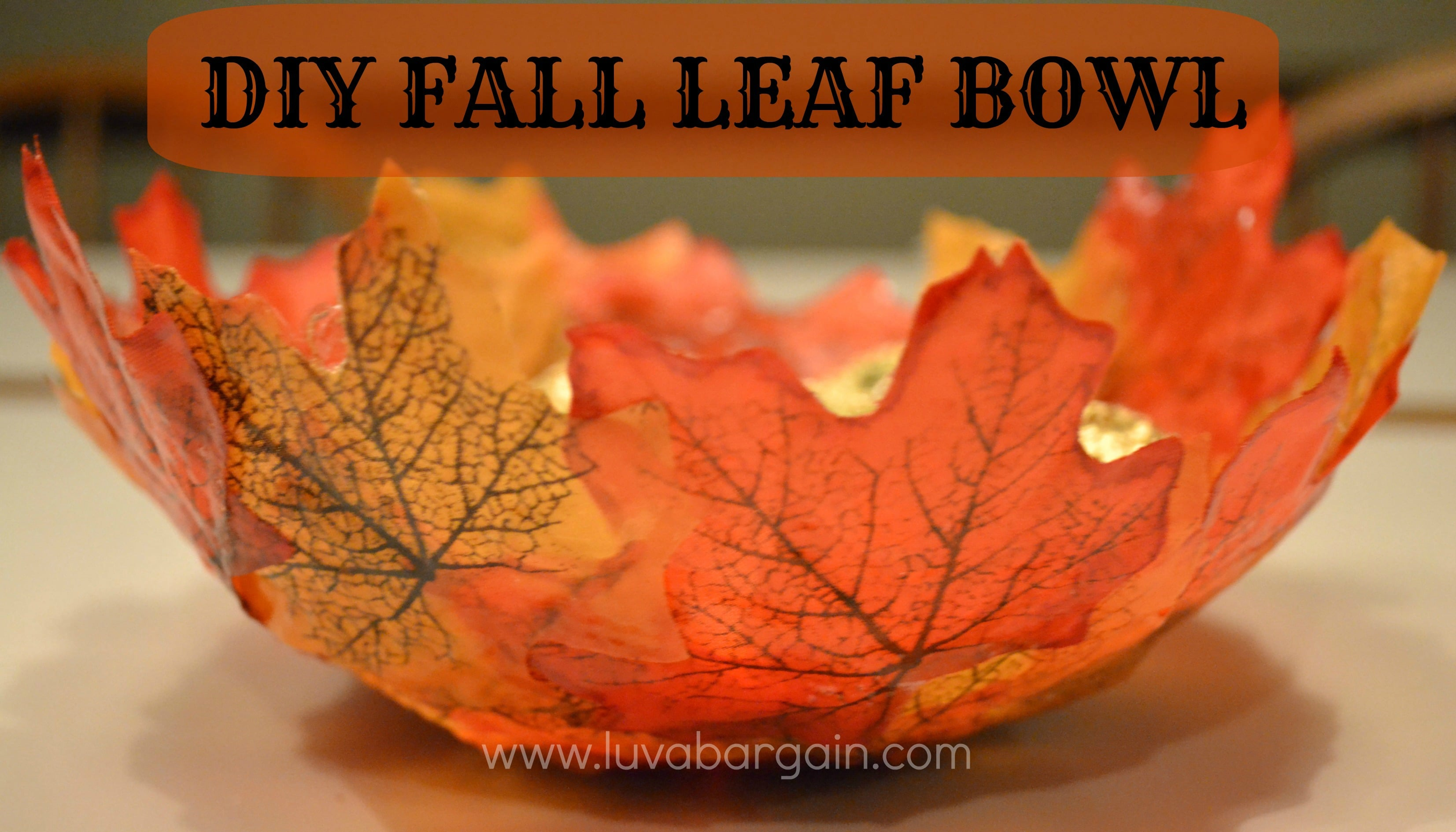 Diy Fall Decorations Diy Fall Leaf Bowl