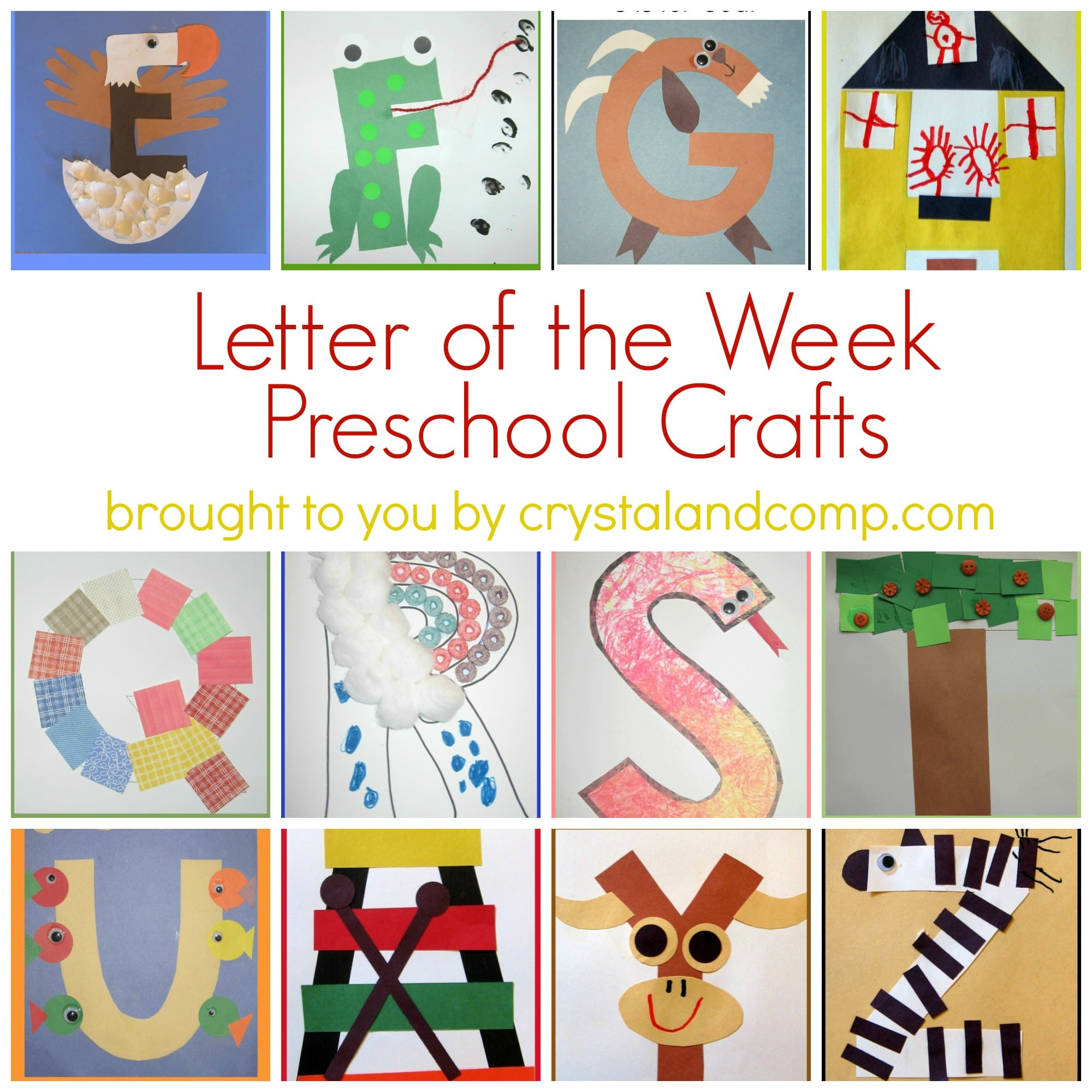Letter Review Crafts For Preschoolers