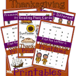 Educational Thanksgiving Printables