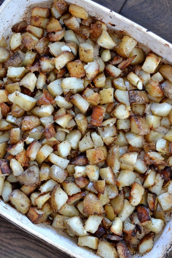 It doesn't get any easier and delicious than these roasted potatoes for a simple side dish. They are guaranteed to be the hit of any meal.