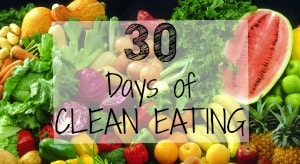 30 days of clean eating