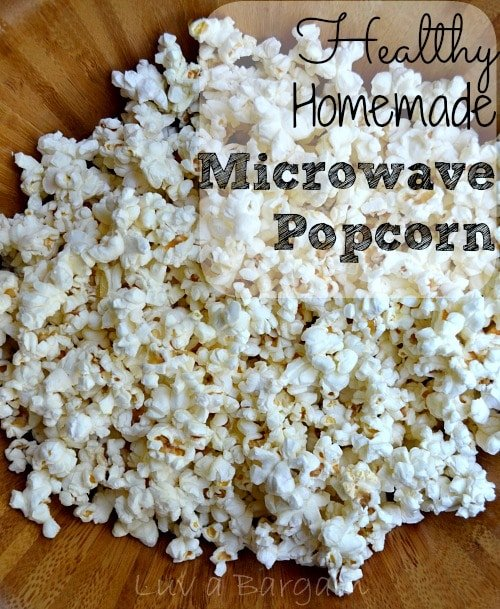 Healthy Homemade Microwave Popcorn