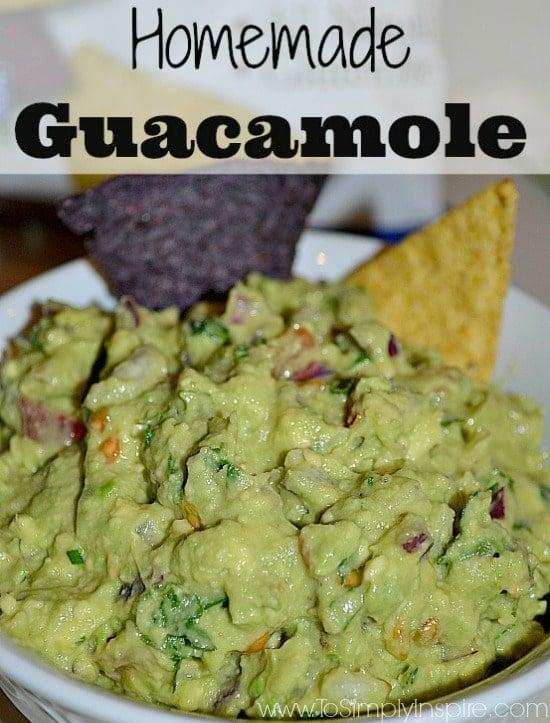 Homemade Guacamole in a bowl