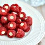 Raspberries with White Chocolate Chips
