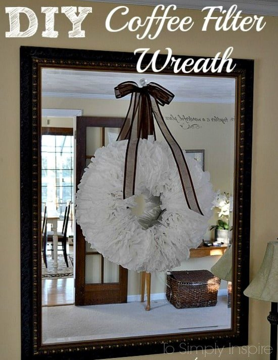 Follow this easy tutorial to make your own DIY Coffee Filter Wreath. It's a cheap and easy way to add a beautiful accessory to your decor.