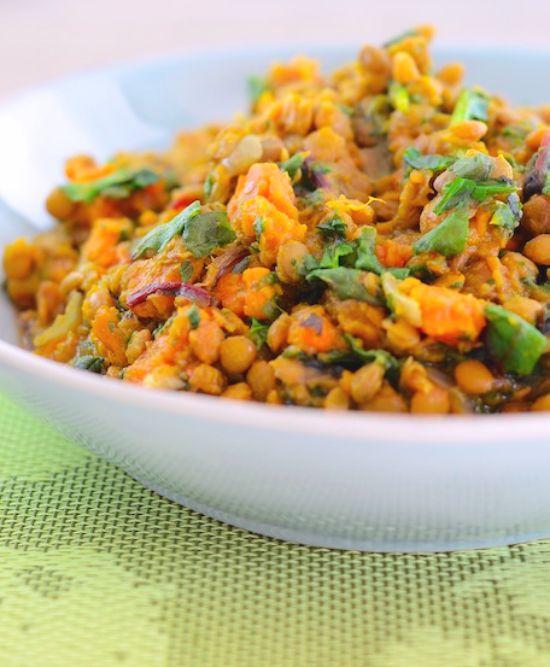 slow cooker lentils
