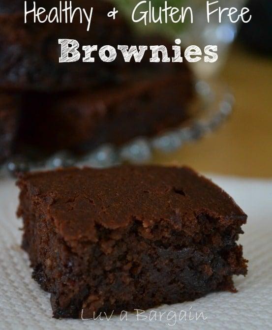 Healthy Gluten Free Brownies