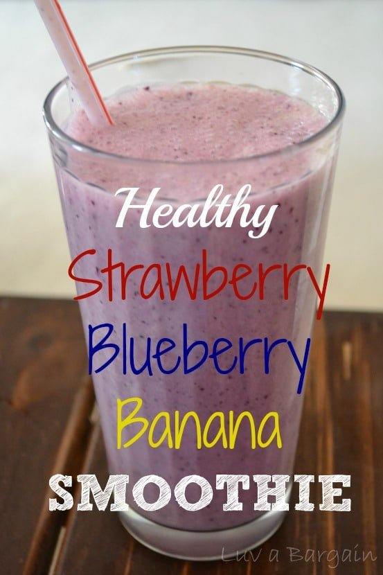 Healthy Strawberry Blueberry Banana Smoothie