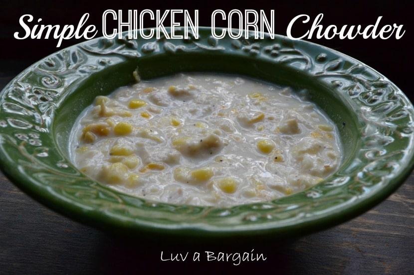 Simple Chicken Corn Chowder