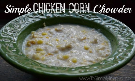 This Chicken Corn Chowder is extremely simple and really hits the spot! Hearty and healthy!