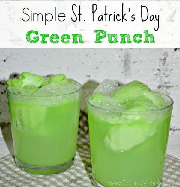This is a great simple St. Patrick's Day Green Punch to serve your little leprechauns at a party or just for fun. Just 2 ingredients.