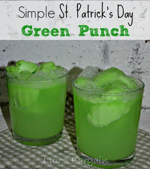 This is a great simple St. Patrick's Day Green Punch to serve your little leprechauns at a party or just for fun.