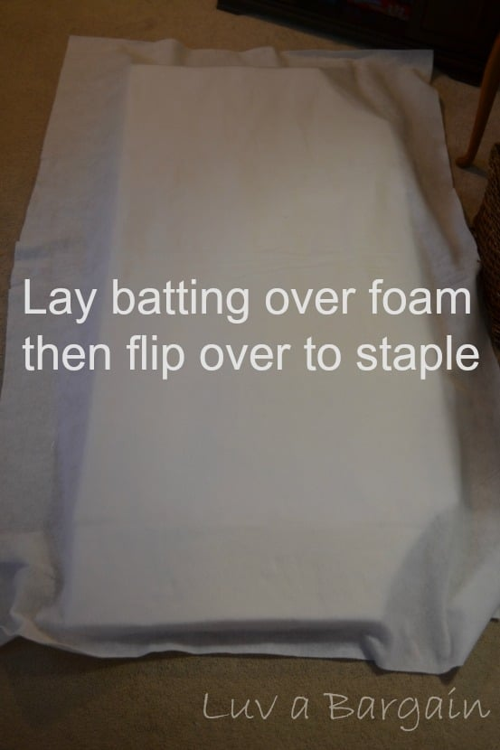 batting covering foam
