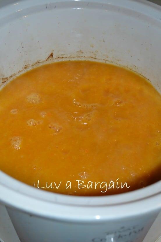 soup in crock pot