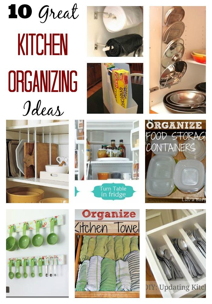 10 Great Kitchen Organizing Ideas