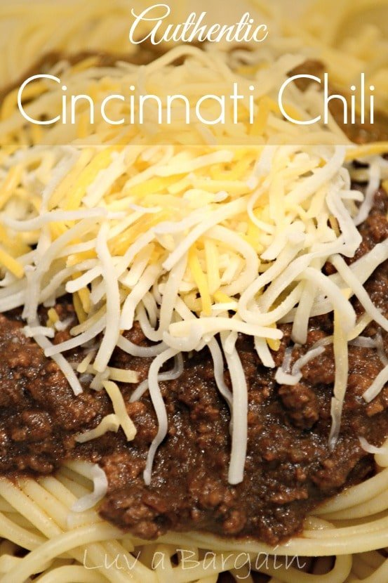 ... Cincinnati Chili. I remember it like it was yesterday! I fell in love
