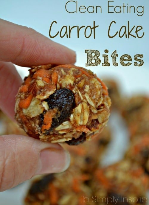 Clean Eating Carrot Cake Bites