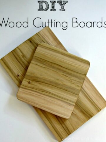 two wood cutting boards