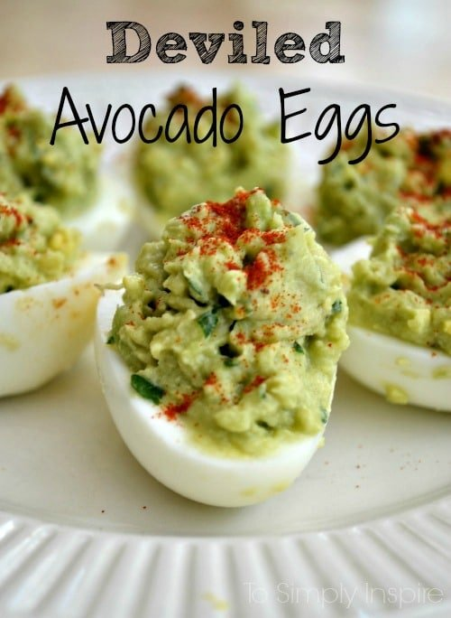 Avocado Deviled Eggs Recipe — Dishmaps
