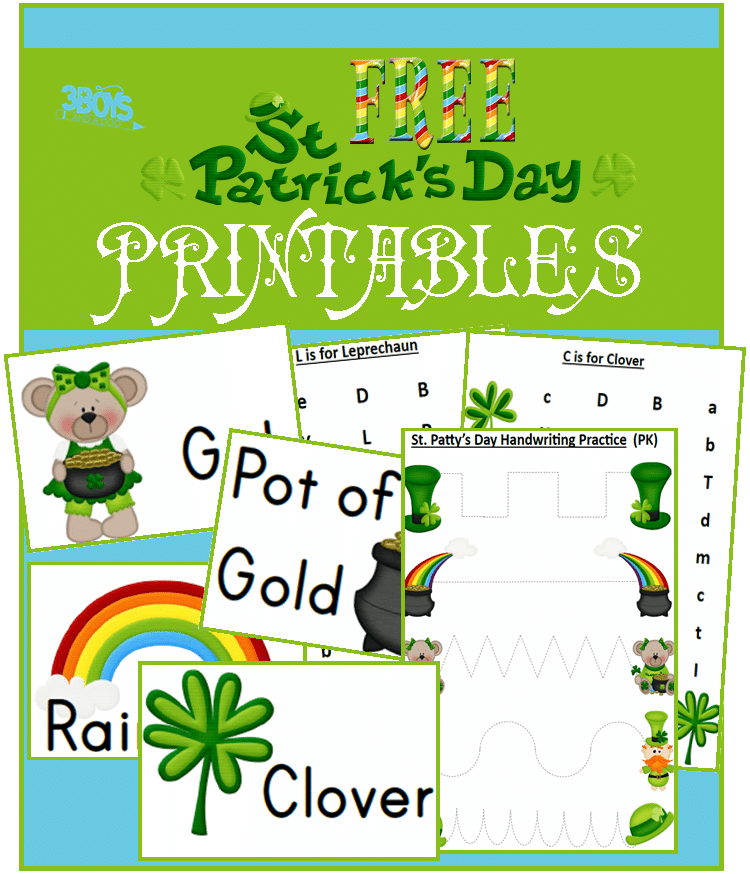 Free Saint Patricks Day Printables