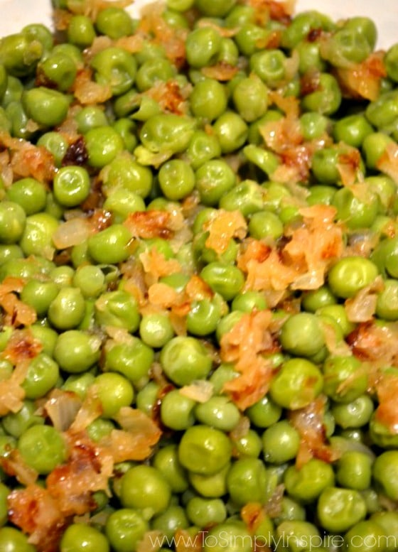 Green Peas with Sauteed Onions1