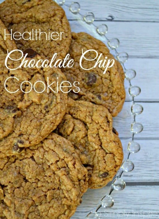 Healthier Chocolate Chip Cookies - No flour and no refined sugar. Fantastic!!