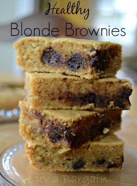 Blonde Brownies Without Chocolate Chips
