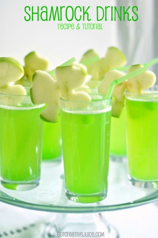 Shamrock-Drink-with-Apple-Garnish