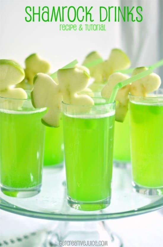 Shamrock-Drink-with-Apple-Garnish