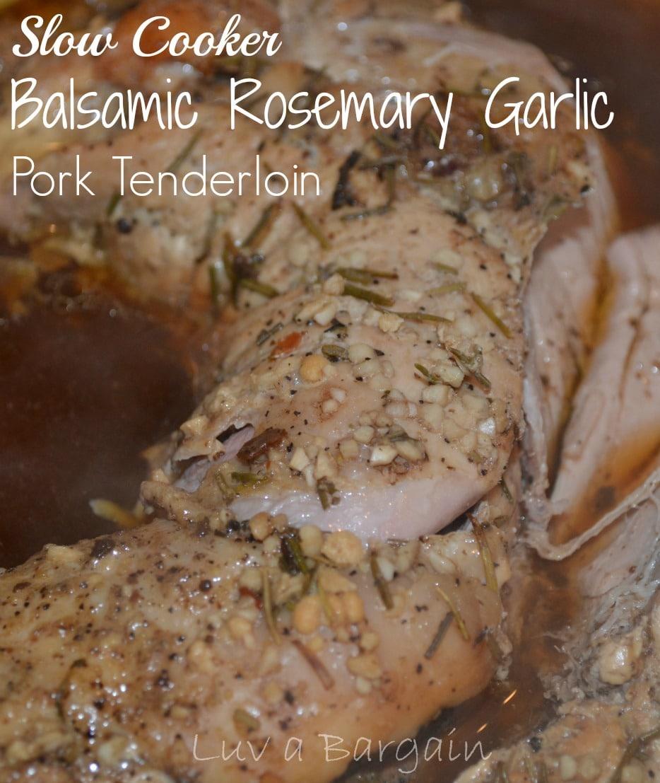 Slow Cooker Balsamic Garlic Pork Tenderloin