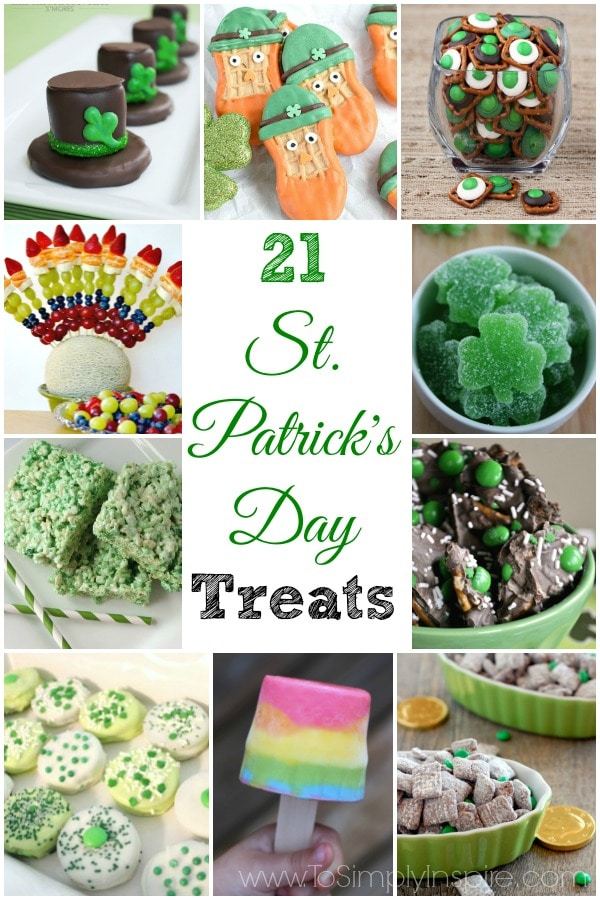 Celebrating the luck of the Irish this year? Make any of these 21 St. Patrick's Day treats and drinks for your little leprechauns to indulge on.