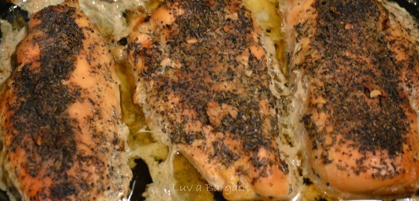 Healthy Slow Cooker Rosemary Garlic Chicken