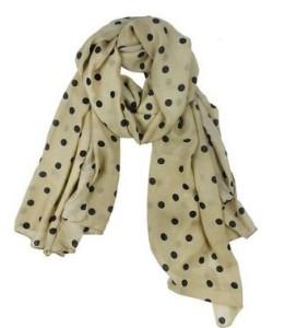 polka dot scarf1