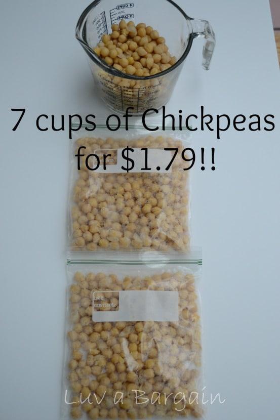 7 cups of ckickpeas