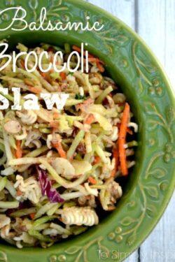 Balsamic Broccoli Slaw