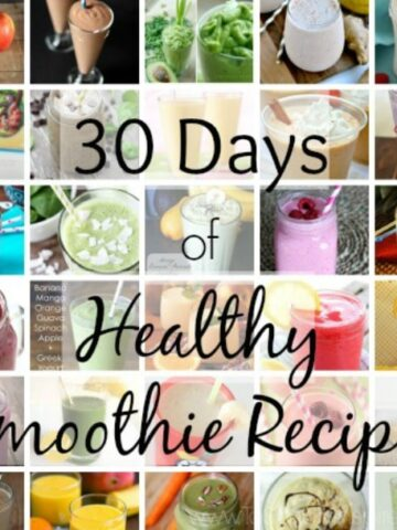 A bunch of different types of Smoothie recipes