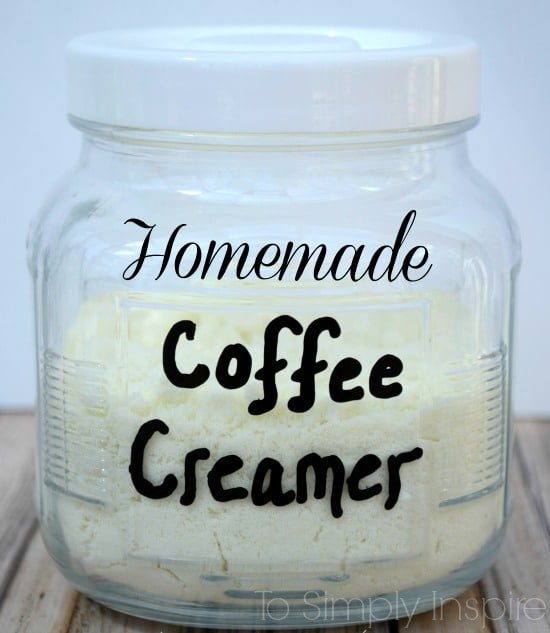 Homemade coffee creamer in a jar