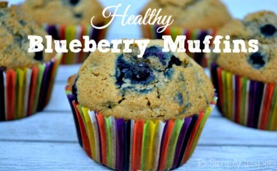 blueberry muffin in rainbow muffin liner