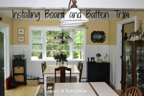 Installing Board and Batten Trim